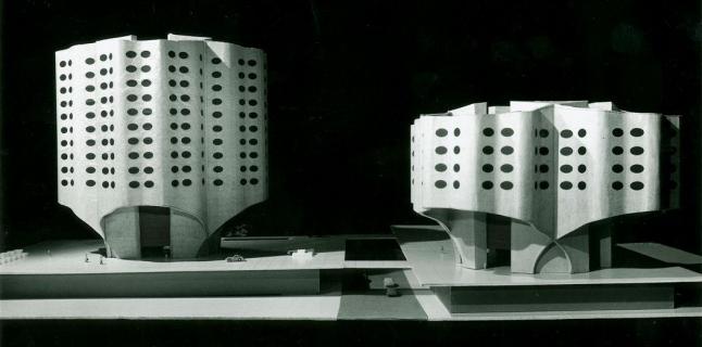 Bertrand Goldberg Associates, Affiliated Hospital Center, model, 1966–84
