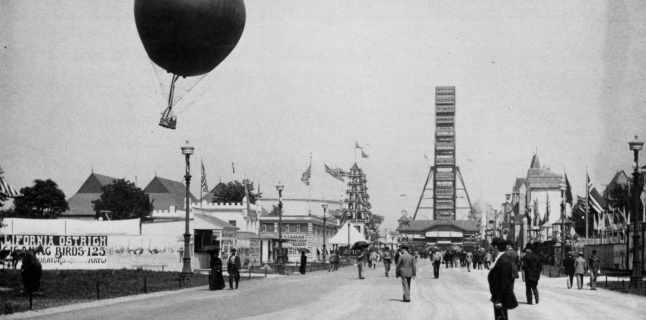 C. D. Arnold, photographer, view of the Midway Plaisance, World's Columbian Exposition, Chicago, 1893