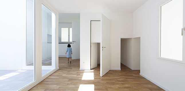 "Installation view of ""Svizzera 240: House Tour"" at the Swiss Pavilion at the 16th International Architecture Exhibition - La Biennale di Venezia, Photo: Christian Beutler / KEYSTONE"
